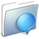 Graphite Smooth Folder iChats icon