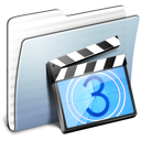 Graphite Stripped Folder Movies icon