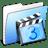 Aqua-Stripped-Folder-Movies icon