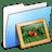 Aqua-Stripped-Folder-Pictures icon