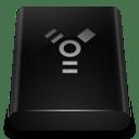 Black Drive Firewire icon
