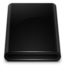 Black Drive Removable icon