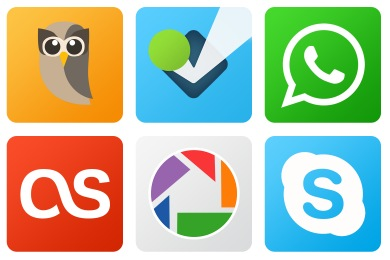 Flat Gradient Social Icons