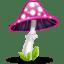 Mushroom pink icon
