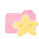 Folder Candy Starry Sad icon