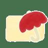 Folder-Vanilla-Umbrella icon