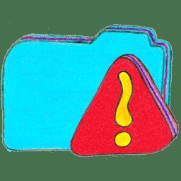 Osd folder b warning icon