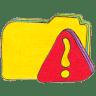 Osd-folder-y-warning icon