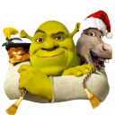 Shrek and Donkey and Puss icon