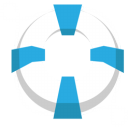 Lifesaver lifebuoy blue icon