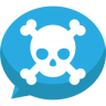 Jolly-roger-bubble-chat icon