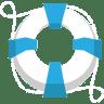 Lifesaver-lifebuoy-blue icon