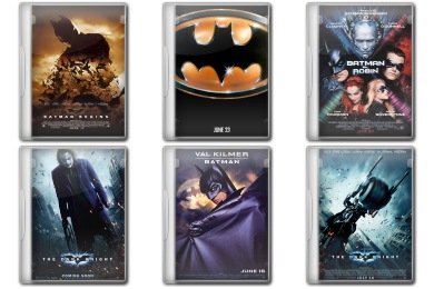 Batman Movie DVD Icons