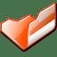 Folder-orange-open icon