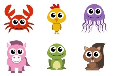 Flat Animal Icons