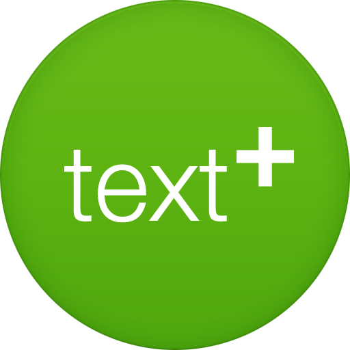Text plus icon