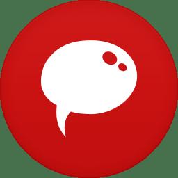 Chat Icon Circle Iconset Martz90