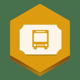 Bus ticket icon