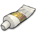 Tube with stuff in it icon