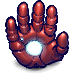 Comics Ironman Hand icon