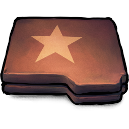 Folder Brown Star icon
