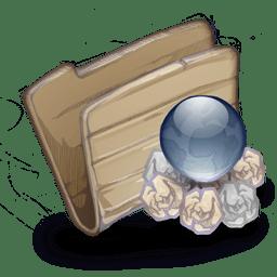 Folder Folder Garbage Globe icon