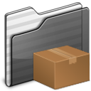 Download Folder black icon