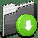 Drop Box Folder black icon