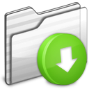 Drop Box Folder white icon