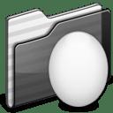 Egg Folder black icon