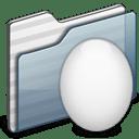 Egg Folder graphite icon