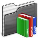 Library Folder black icon