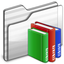 Library Folder white icon