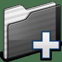 New Folder black icon