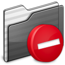 Private Folder black icon