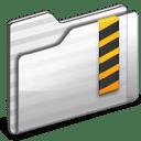 Security Folder white icon