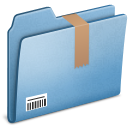 Blue Downloads icon