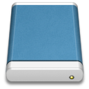 Blue External Drive icon