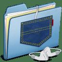 Blue Pocket iPod shuffle icon