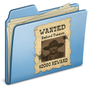 Blue WANTED icon