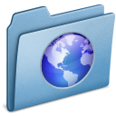 Blue Web icon