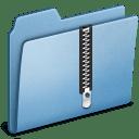 Blue Zip icon