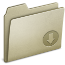Lightbrown Drop icon