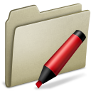 Lightbrown Marker icon