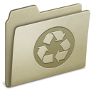Lightbrown Recycling icon