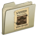 Lightbrown WANTED icon