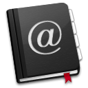 AddressBook Black icon