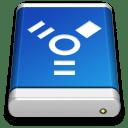 Drive Blue FireWire icon