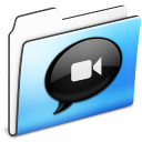 iChat Folder smooth icon
