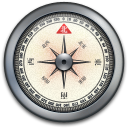 iPhone Compass Silver icon